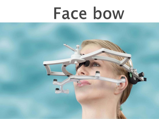The face bow is a caliper – like device that is used to record the