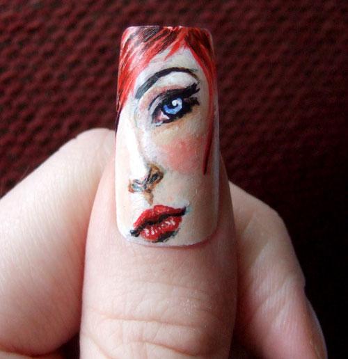 Nail Art: Face Nail Design Ideas, beautiful bridal nail art designs,  beautiful wedding nail art designs ~ Fixstik - Nail Art