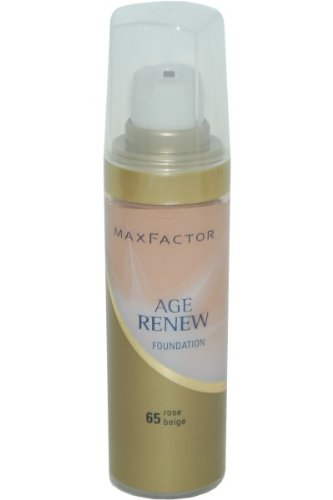 Max Factor Age Renew Foundation, No. 65 Rose Beige, 1.01 Ounce