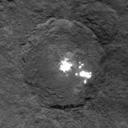 Puntos brillantes en el planeta enano Ceres