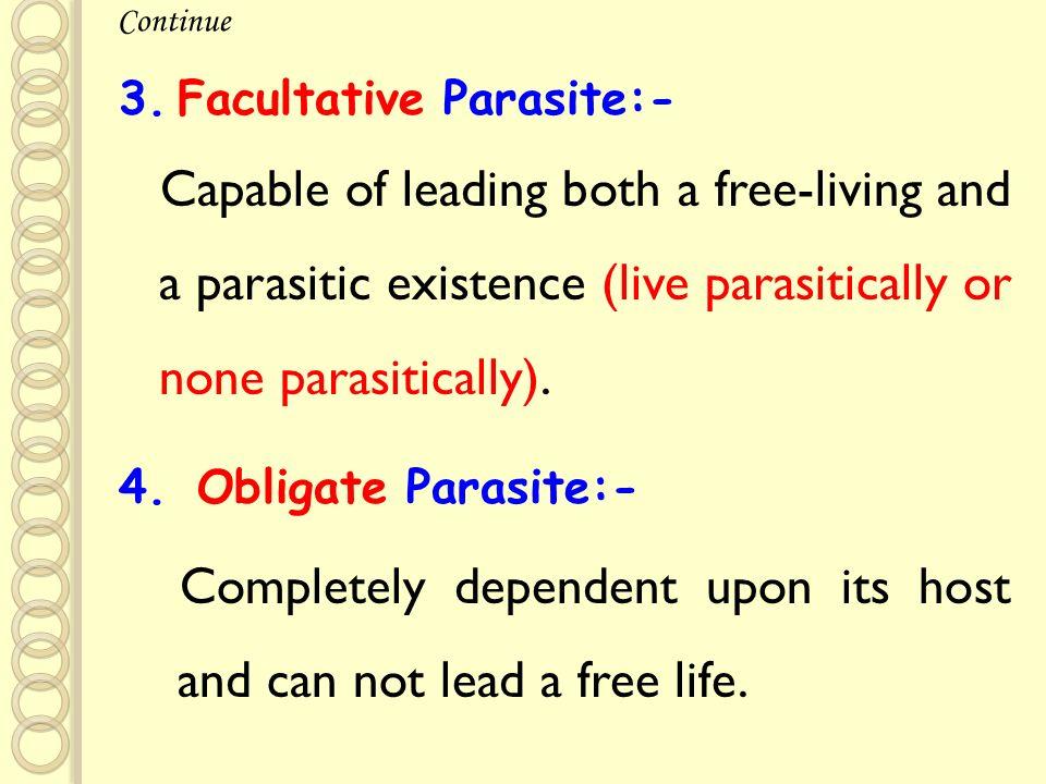 12 Facultative Parasite:-
