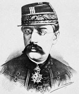 Faidherbe, lithograph by A. Néraudau, 1873