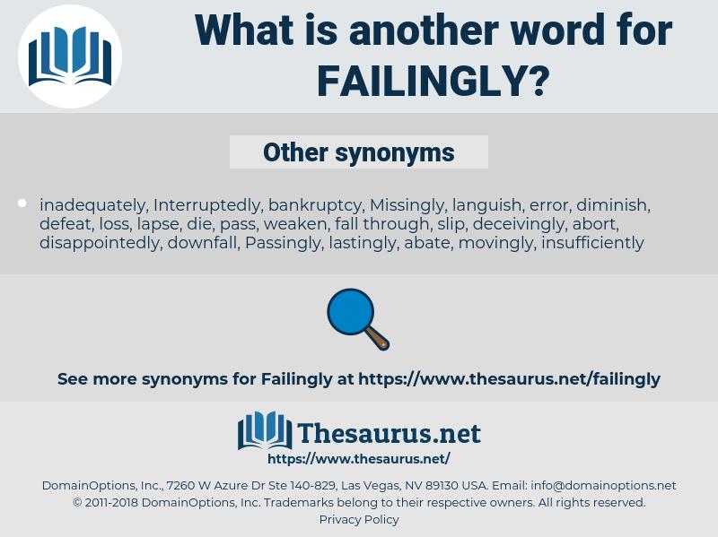 Failingly, synonym Failingly, another word for Failingly, words like  Failingly, thesaurus Failingly