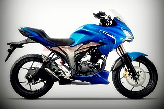 Semi-faired Suzuki Gixxer 155 to rival Yamaha Fazer (speculated rendering)