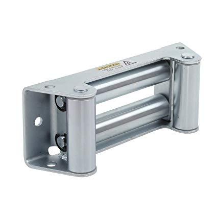 Smittybilt 97281-47 Zinc Plated Winch 4-Way Roller Fairlead