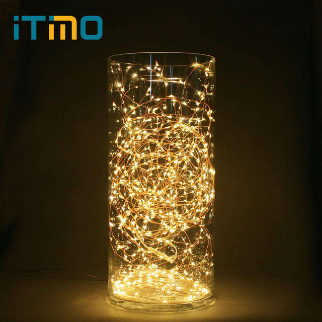 iTimo 5M LED String Lights Battery Operated Copper Wire String Fairy Lamp  Party Wedding Lighting Christmas
