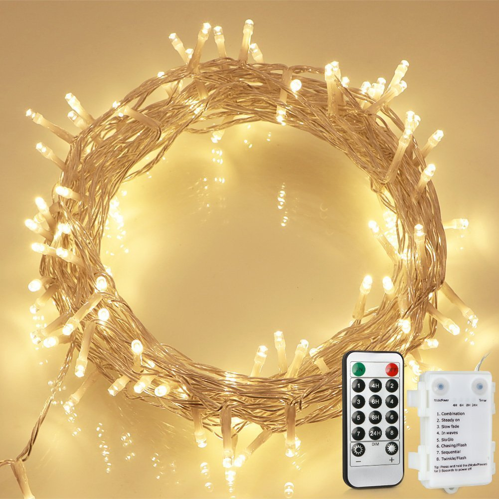 100 LED Outdoor Battery Fairy Lights $