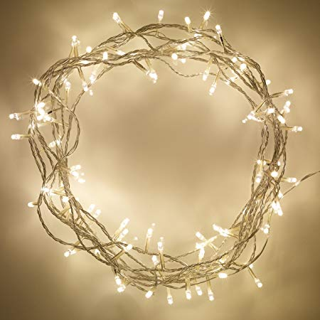 Indoor Fairy Lights with 100 Warm White LEDs on 8m of Clear Cable by  Lights4fun