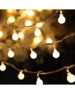 LED String Lights, Warm White Ball Fairy Lights, Waterproof Decorative  Starry Lights for Bedroom