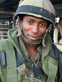 Soldado Falasha en Nablus, 2006
