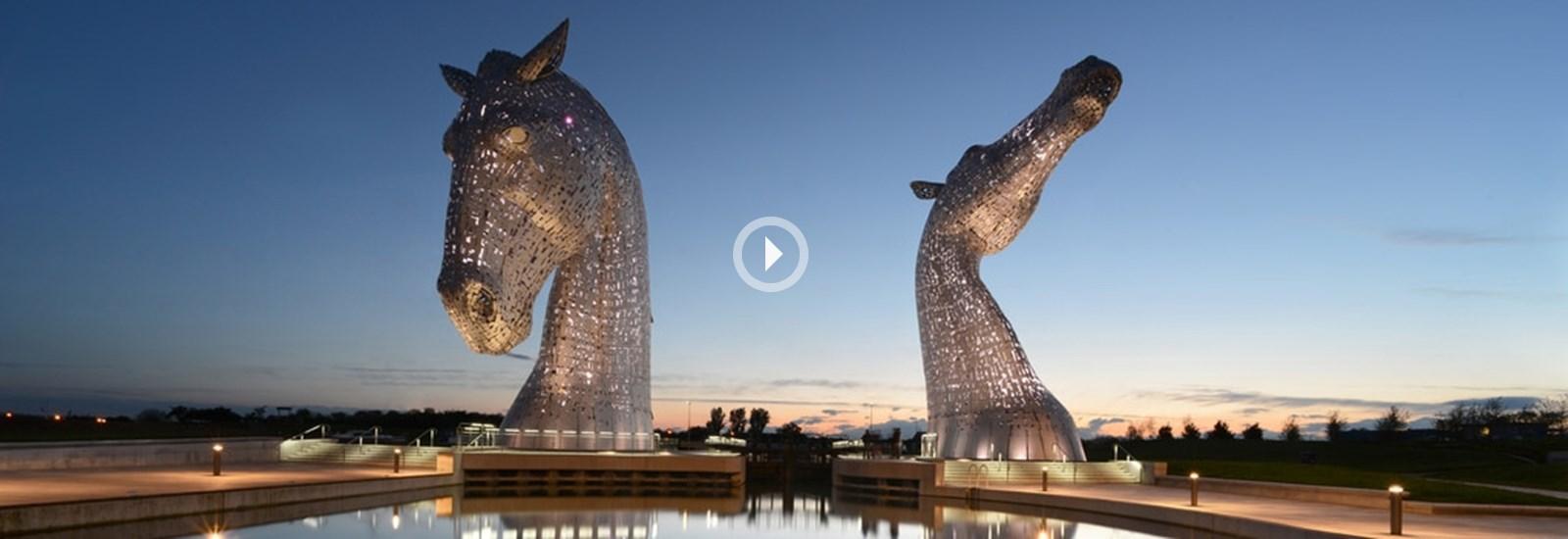 The Kelpies, Kinetic Falkirk Video