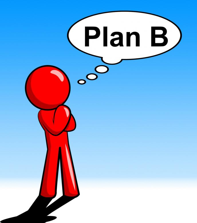 Free Stock Photo of Plan B Shows Fall Back On And Alternative Created by  Stuart Miles