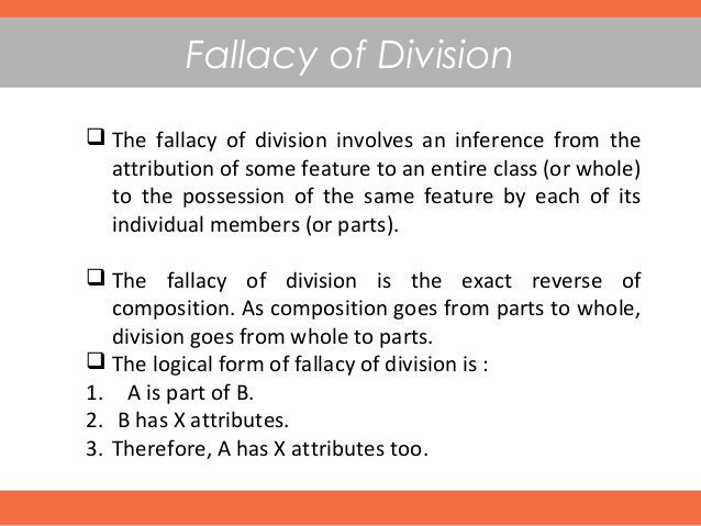 24. Types of Fallacy of Division
