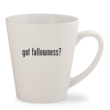 got fallowness? - White 12oz Ceramic Latte Mug Cup