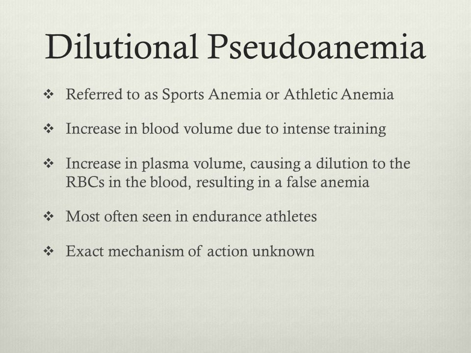 5 Dilutional Pseudoanemia