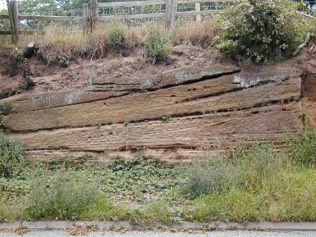 File:False bedding in New Red Sandstone - Traveller Location.uk - 54901
