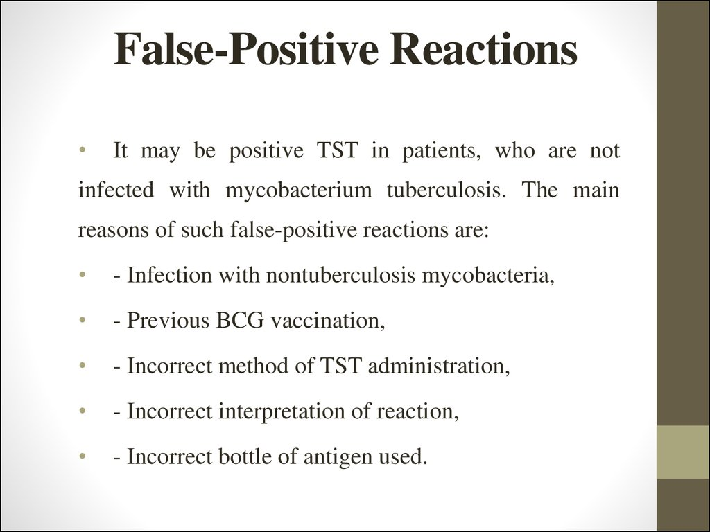 false-positive reaction