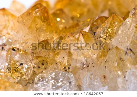 Citrine crystalls (yellow quartz or false topaz)