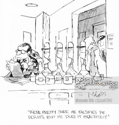 Falsifies Cartoons and Comics