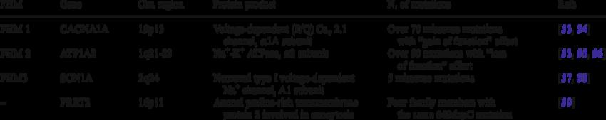 Familial hemiplegic migraine (FHM)