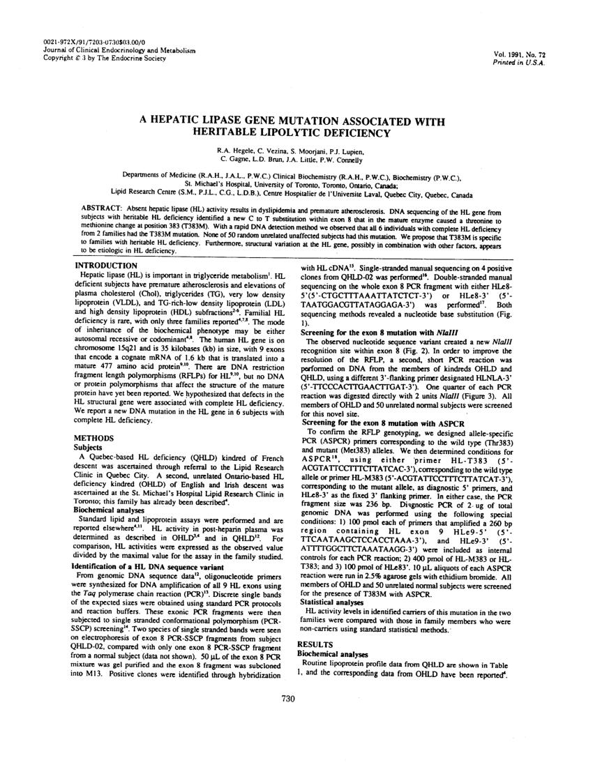 familial hyperbetalipoproteinemia and hyperprebetalipoproteinemia