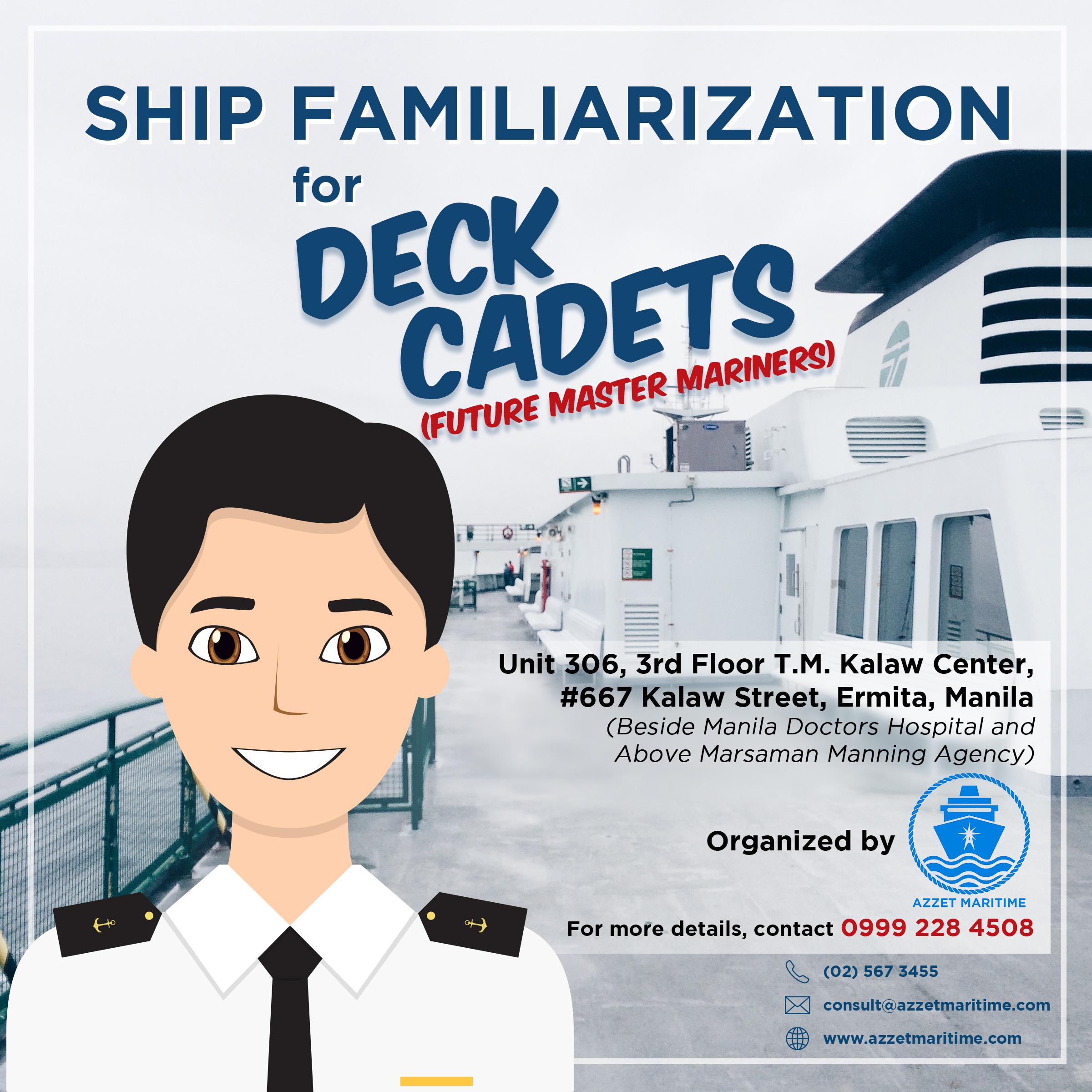 Ship Familiarization for Deck Cadets