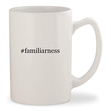 #familiarness - White Hashtag 14oz Ceramic Statesman Coffee Mug Cup