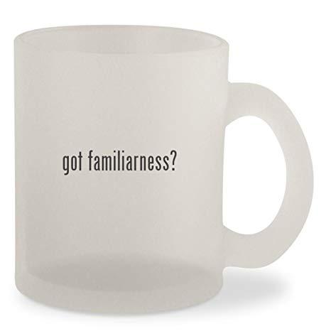 got familiarness? - Frosted 10oz Glass Coffee Cup Mug