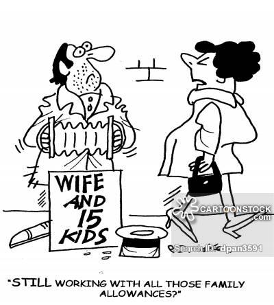 Family Allowance cartoon 1 of 3