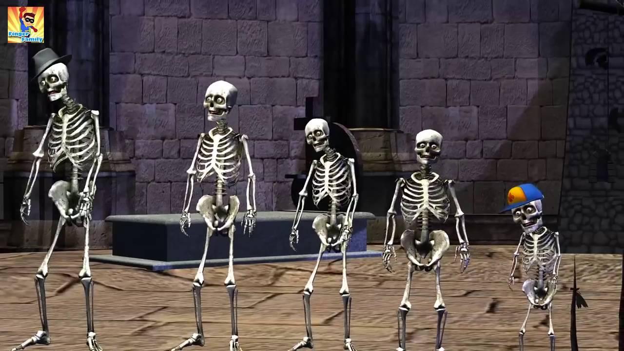 Finger Family Skeleton   Crazy Skeleton Finger Family   3D Funny Skeletons  Finger Family R