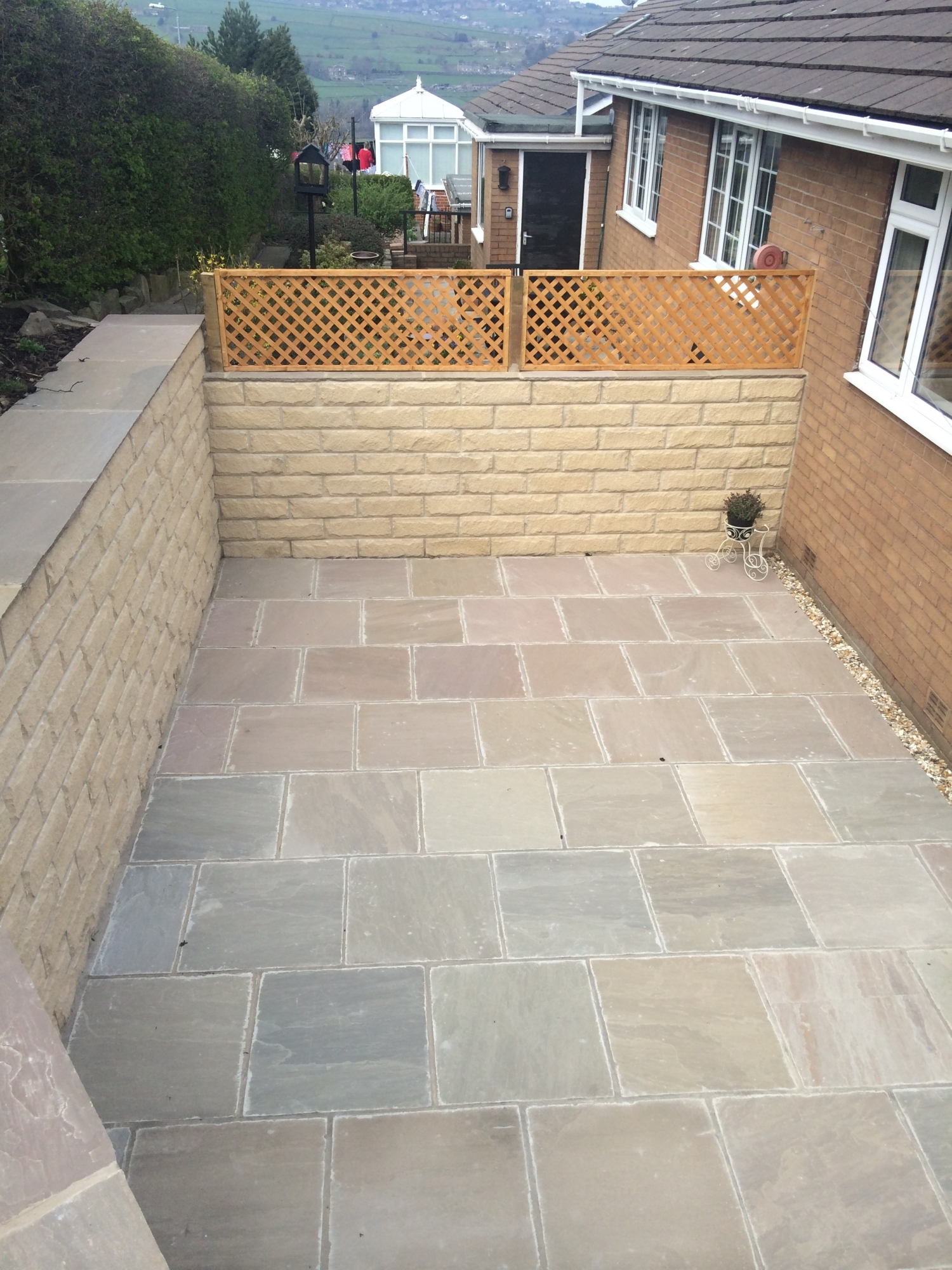 Flagging and patio works in Linthwaite, Huddersfield
