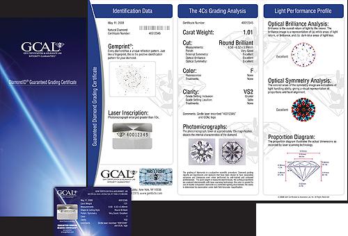 GCAL Diamond ID Certificate
