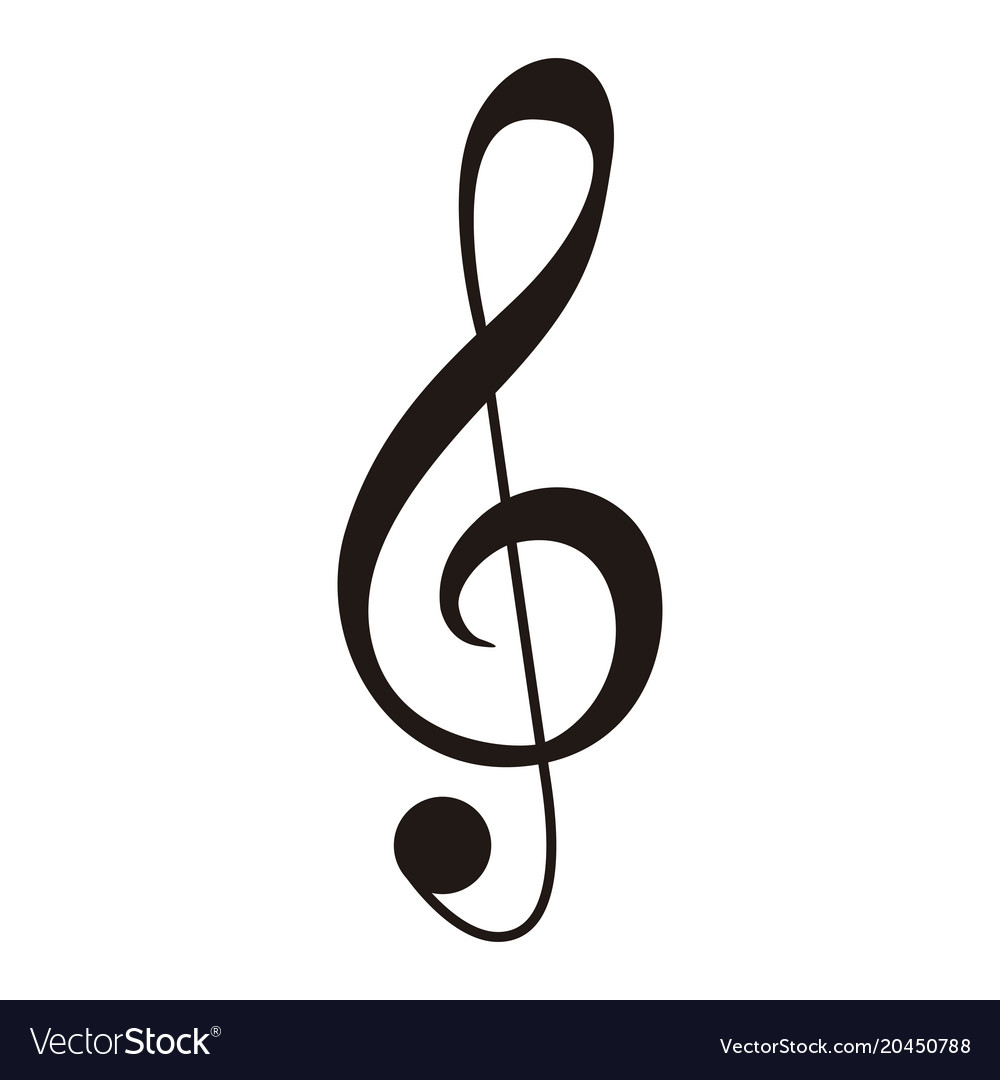 Isolated g-clef musical note vector image