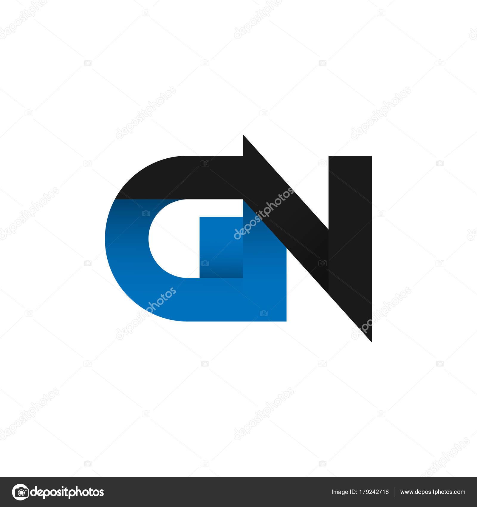 Carta abstracta idea de diseño de logo de Gn — Vector