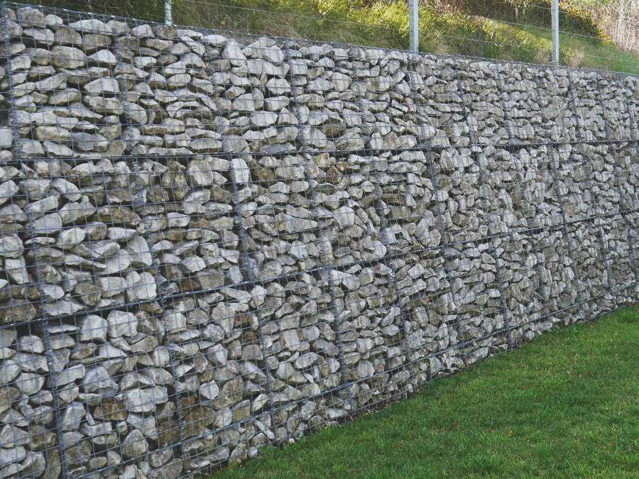 Gabion Walling Rock in Hampshire