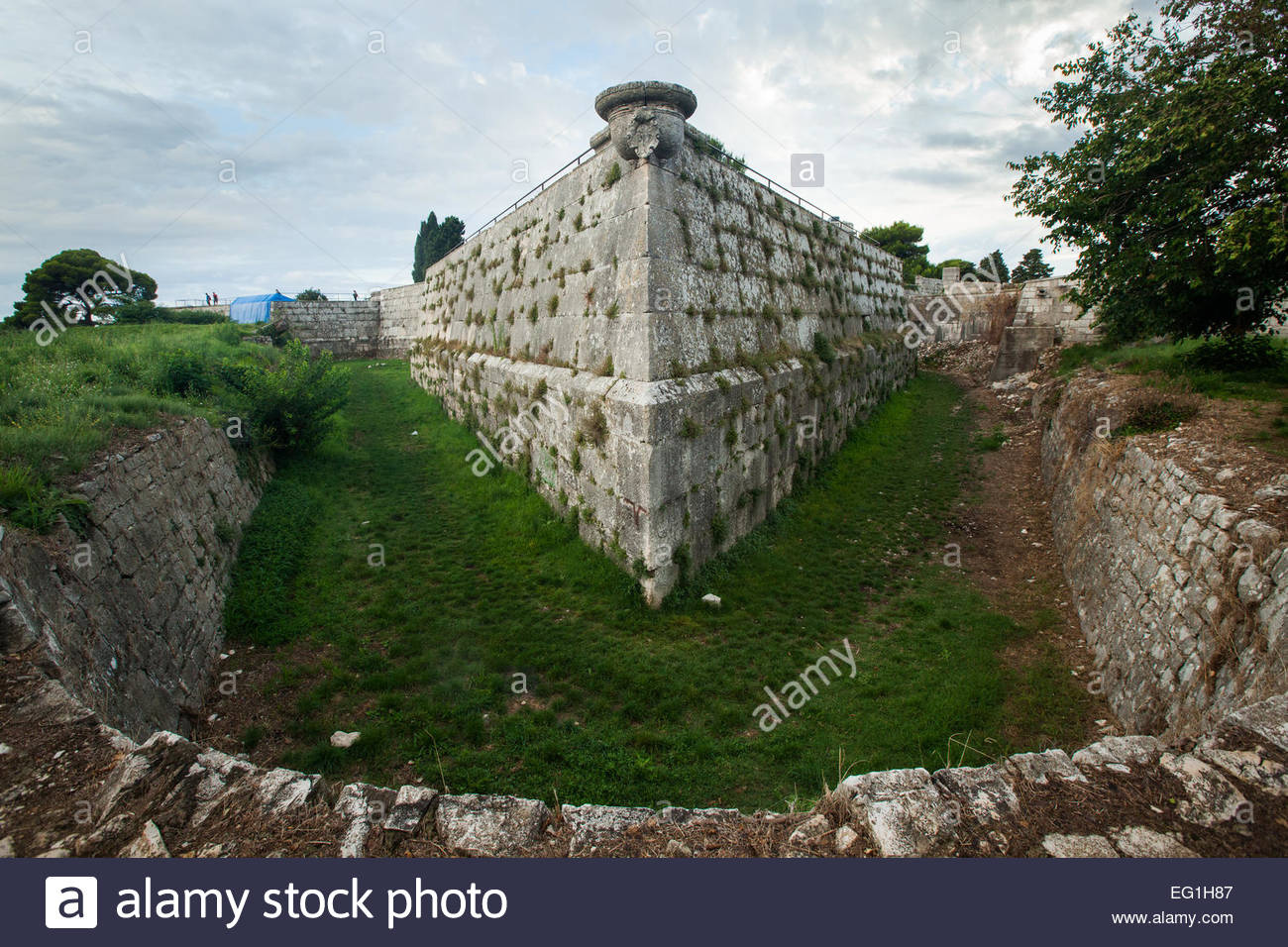 Croatian fortress in Pula - Stock Image