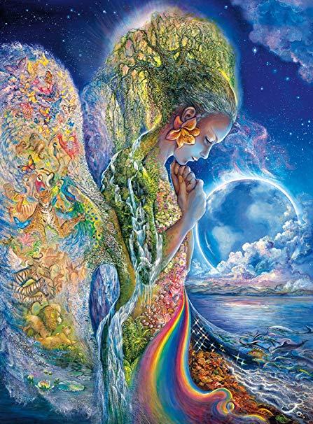 Buffalo Games - Josephine Wall - The Sadness of Gaia - Glitter Edition -  1000 Piece
