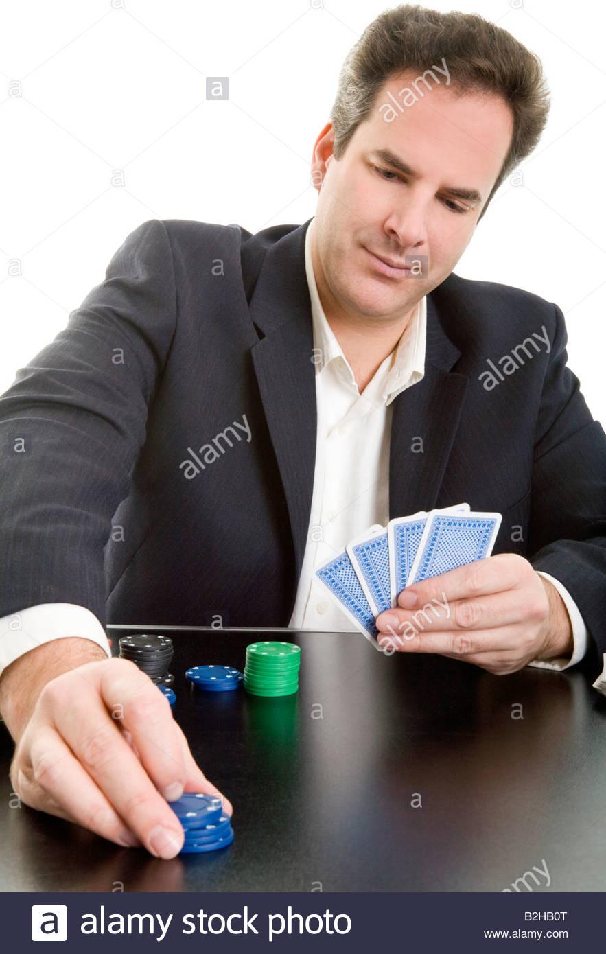 deck of cards gambling game poker chips winnings triumph gainings gambler  businessman salesman tradesman shirt collar manager