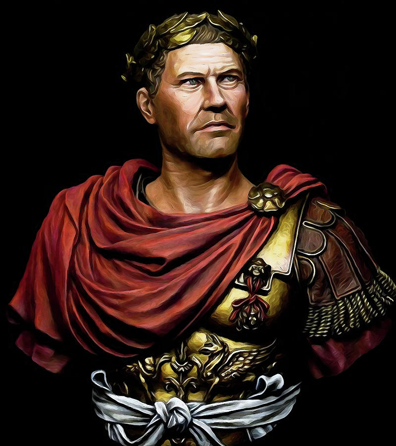 Military Man Painting - Gaius Julius Caesar by Andrea Mazzocchetti