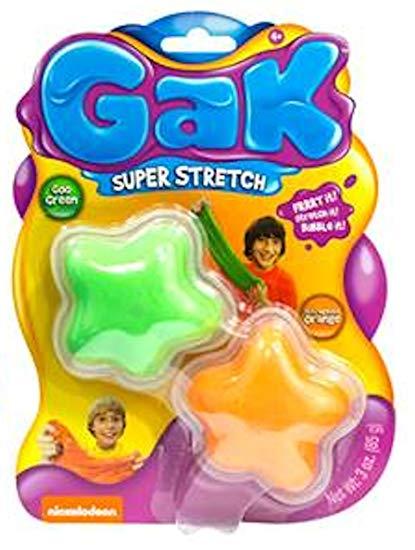 Nickelodeon Gak Super Stretch Goo Green & Outragous Orange