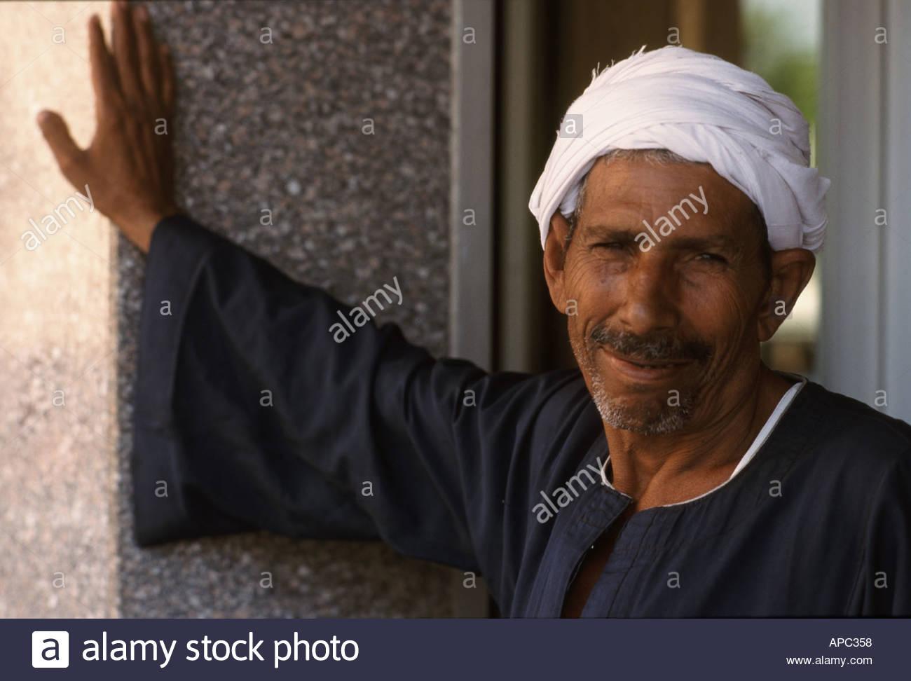 Egyptian farm laborer in Jordan Valley - Stock Image
