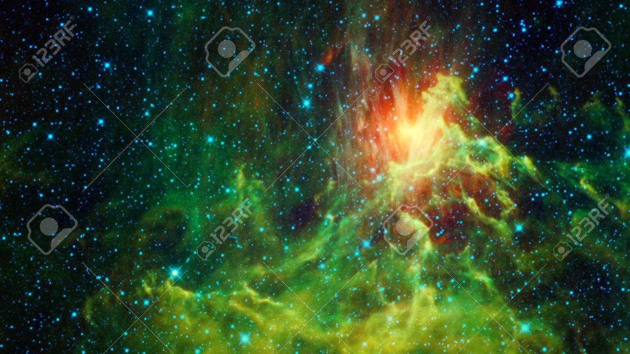 Abstract space background with beautiful bright galactic nebula Stock Photo  - 61641715