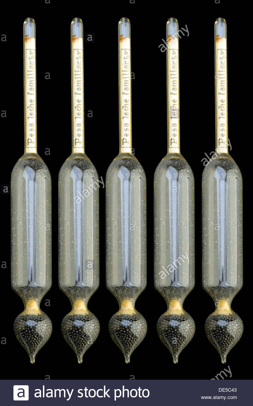Lactometers - Stock Image