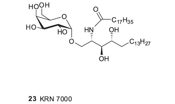 Galactosyl cerebroside ( KRN7000).