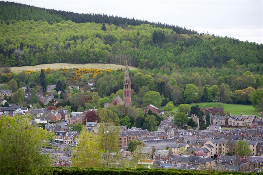 View of Galashiels from Galashiels Golf course.