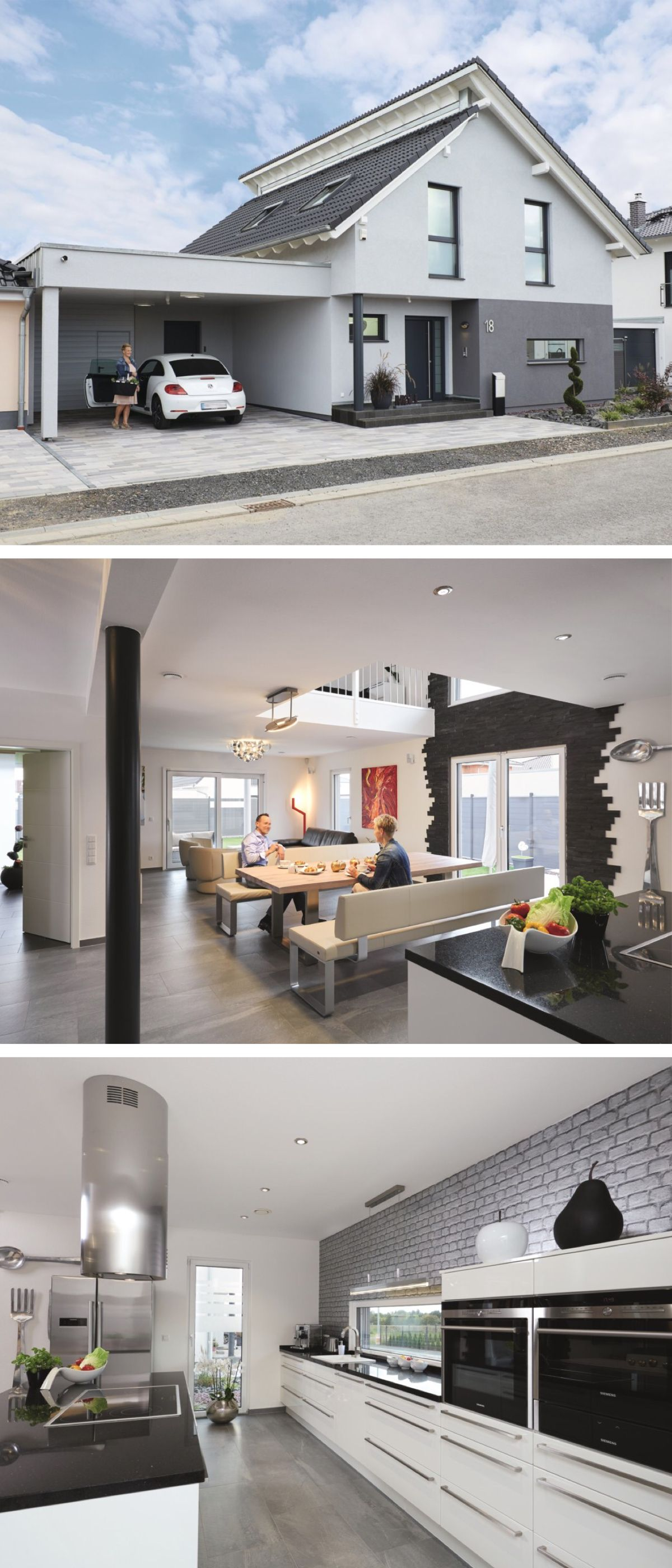 Modernes Pultdach-Haus mit Galerie und Carport - Einfamilienhaus Generation  5.5 WeberHaus Fertighaus - Traveller Location