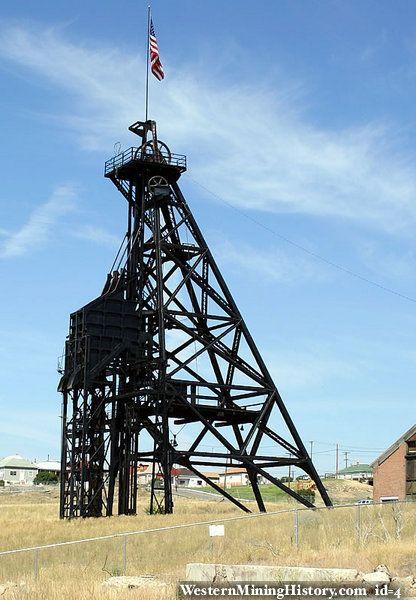 the original mine butte mt - Google Search #gallows #frame #headframe  #Butte #mining #copper