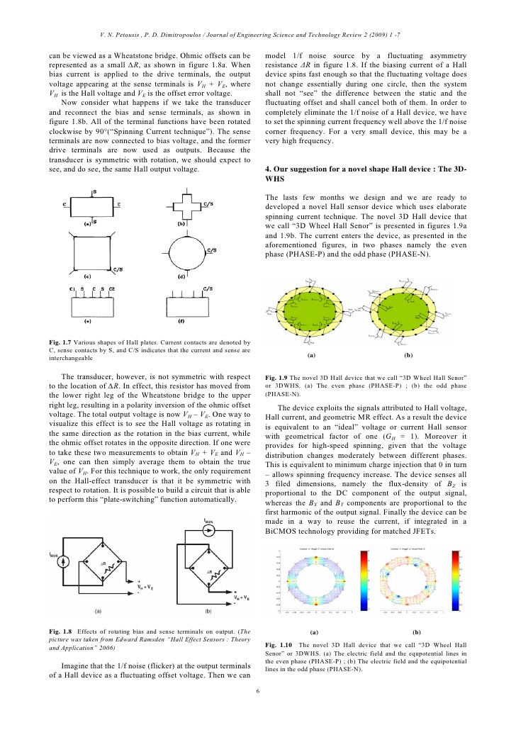 A four-way symmetric Hall-effect transducer 5; 6.