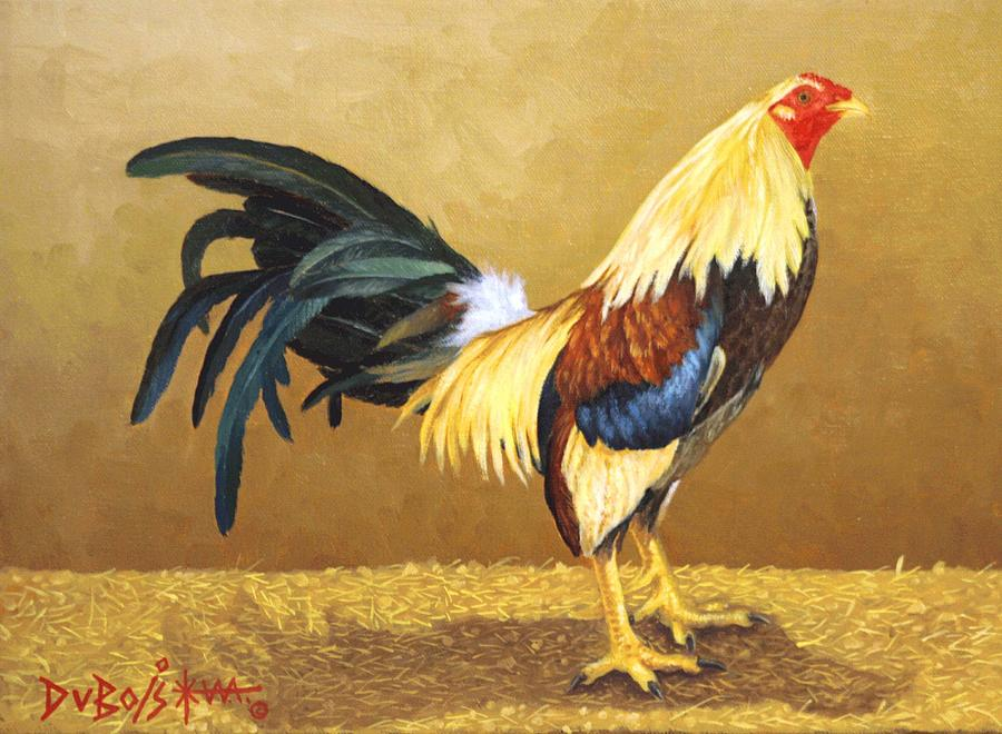 Rooster Painting - Gamecock by Howard Dubois