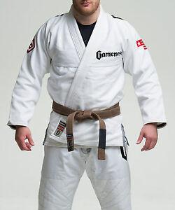 Image is loading Gameness-White-Elite-Jiu-Jitsu-Gi